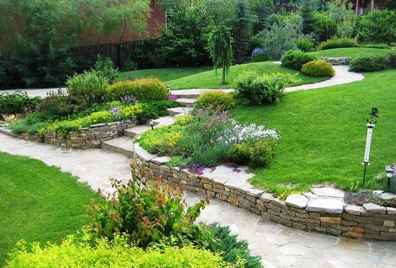 Оформление сада своими руками фотографии